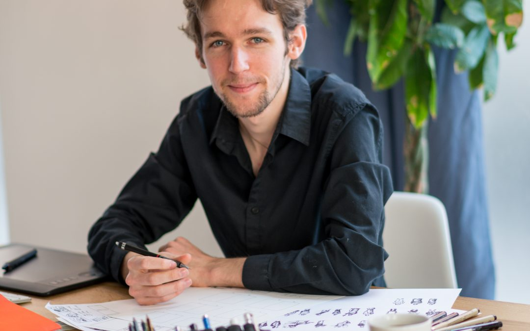 Thomas, le graphiste punk, artisanal et humoristique