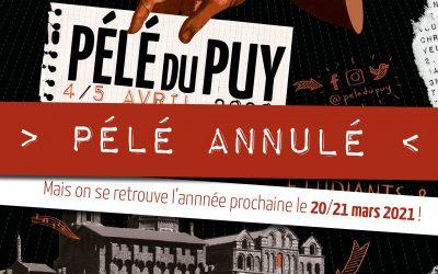 Annulation Pélé du Puy 2020